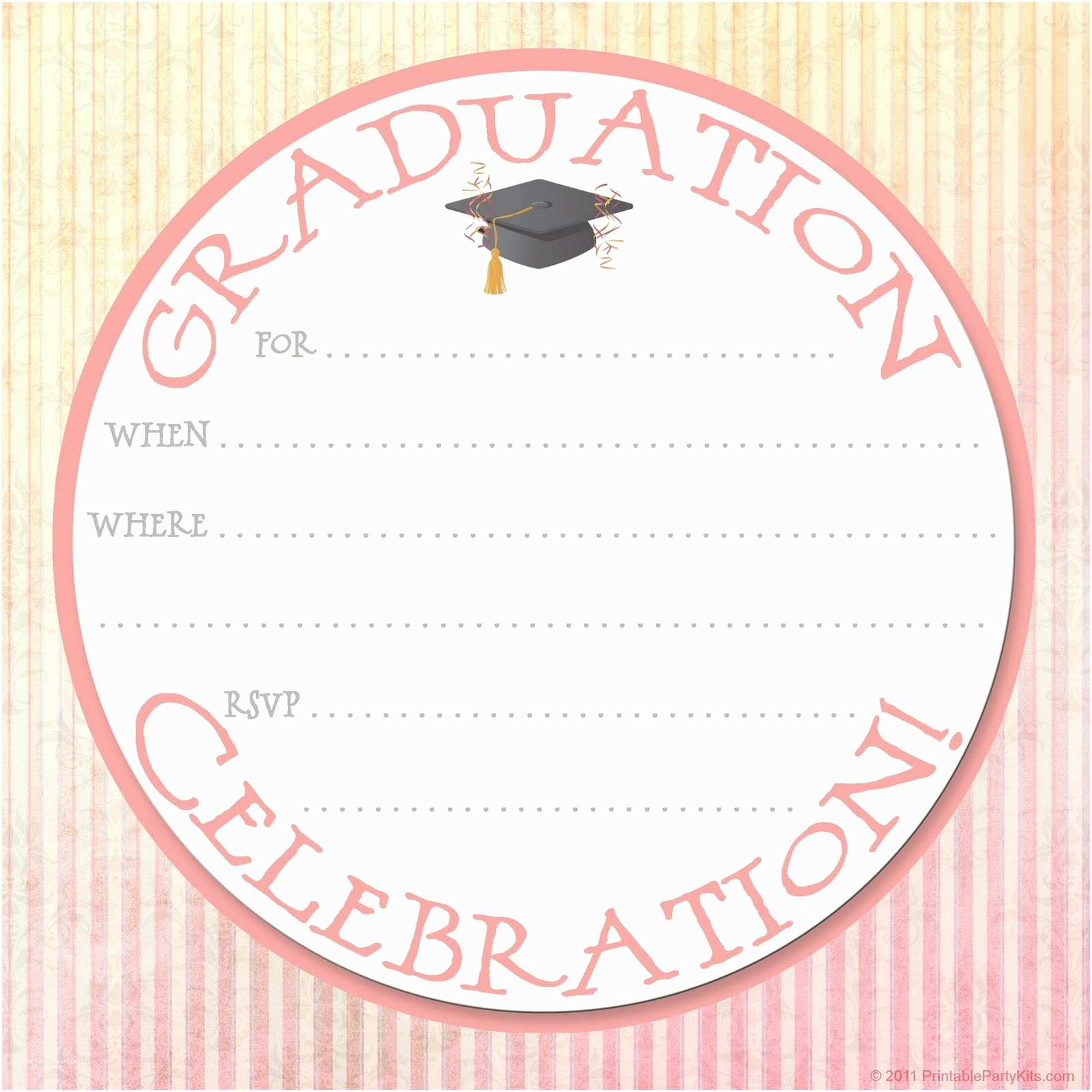 Free Graduation Party Invitation Templates 15 Graduation Flyers for Inviting & Congratulating Your