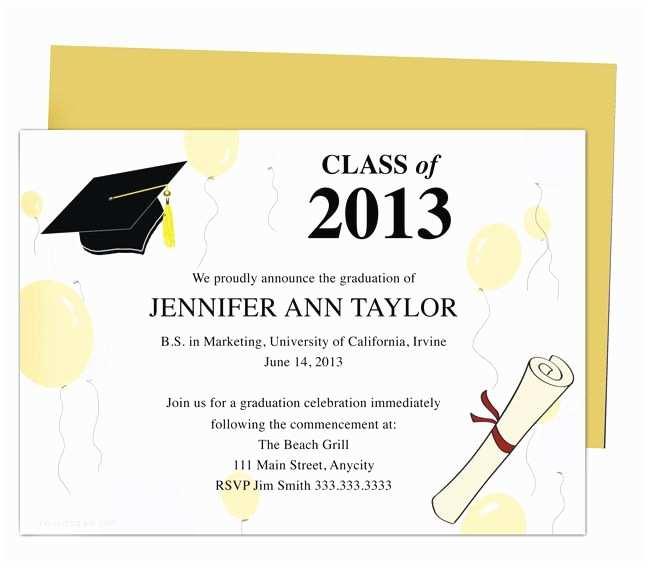 Free Graduation Party Invitation Templates for Word 46 Best Printable Diy Graduation Announcements Templates