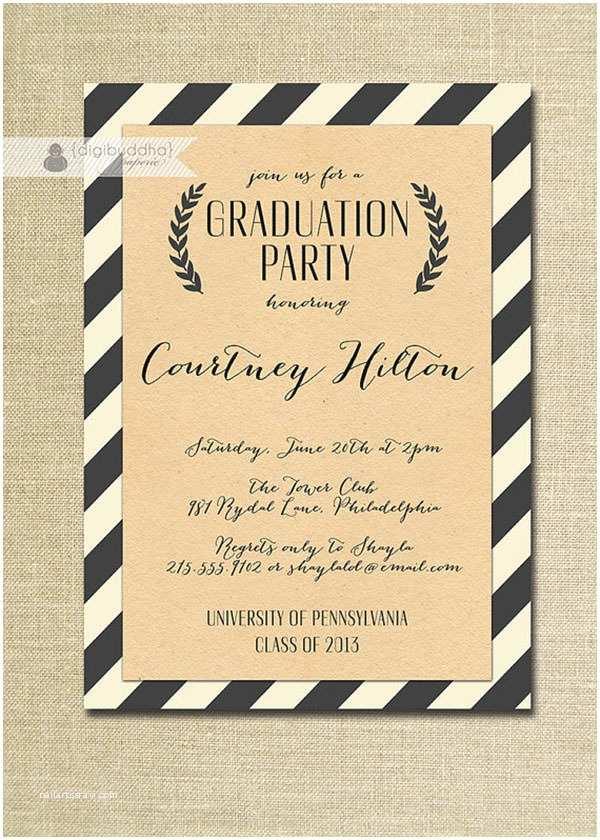 Free Graduation Party Invitation Templates for Word 7 Graduation Invitation Templates