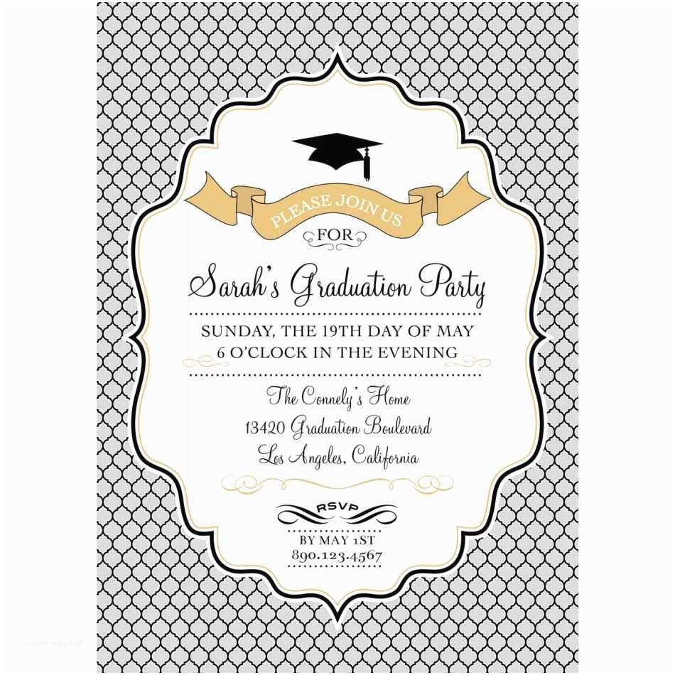 Free Graduation Party Invitation Templates for Word Graduation Invitation Templates Free Photoshop