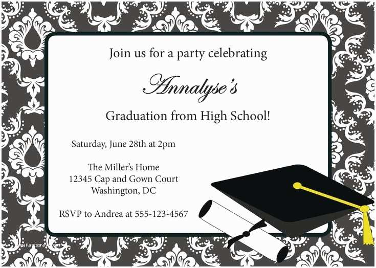 Free Graduation Party Invitation Templates for Word the 25 Best Graduation Invitation Templates Ideas On