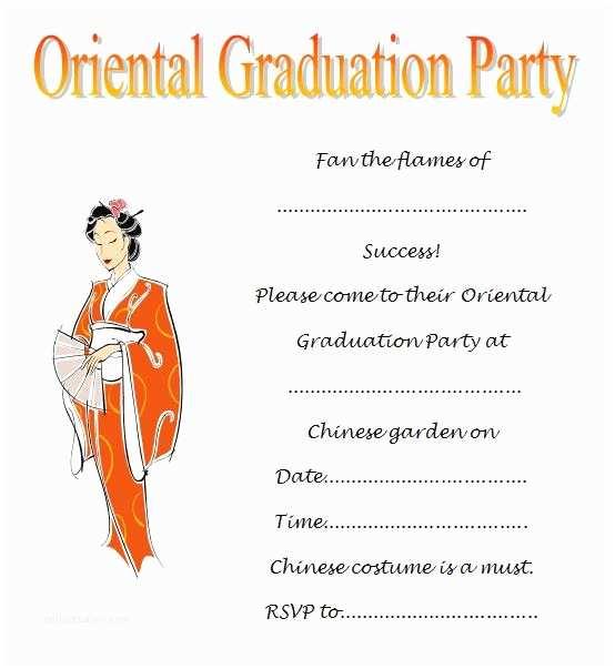 Free Graduation Party Invitation Templates Free Graduation Invitation Template