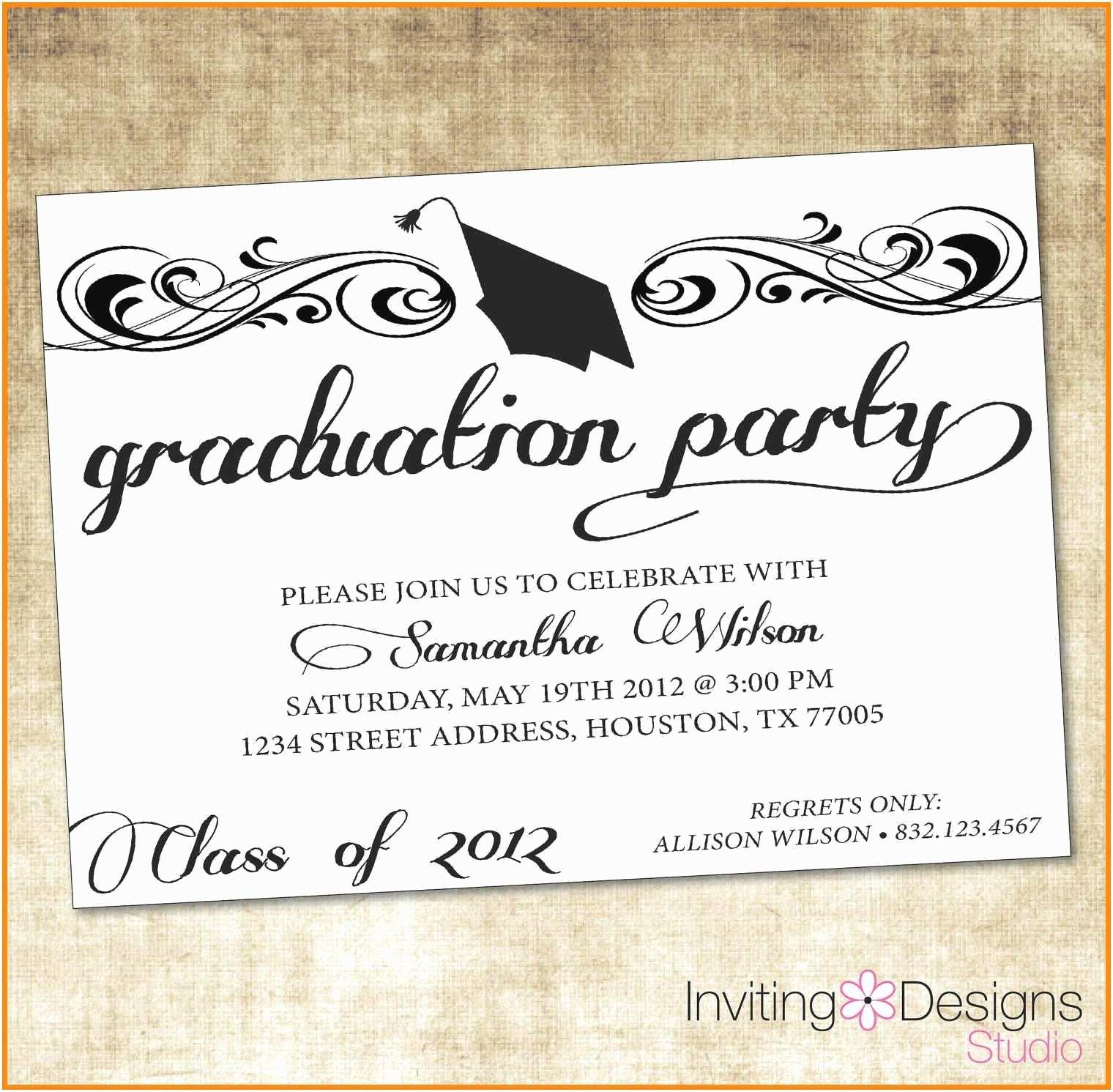Free Graduation Party Invitation Templates Free Graduation Party Invitation Templates for Word
