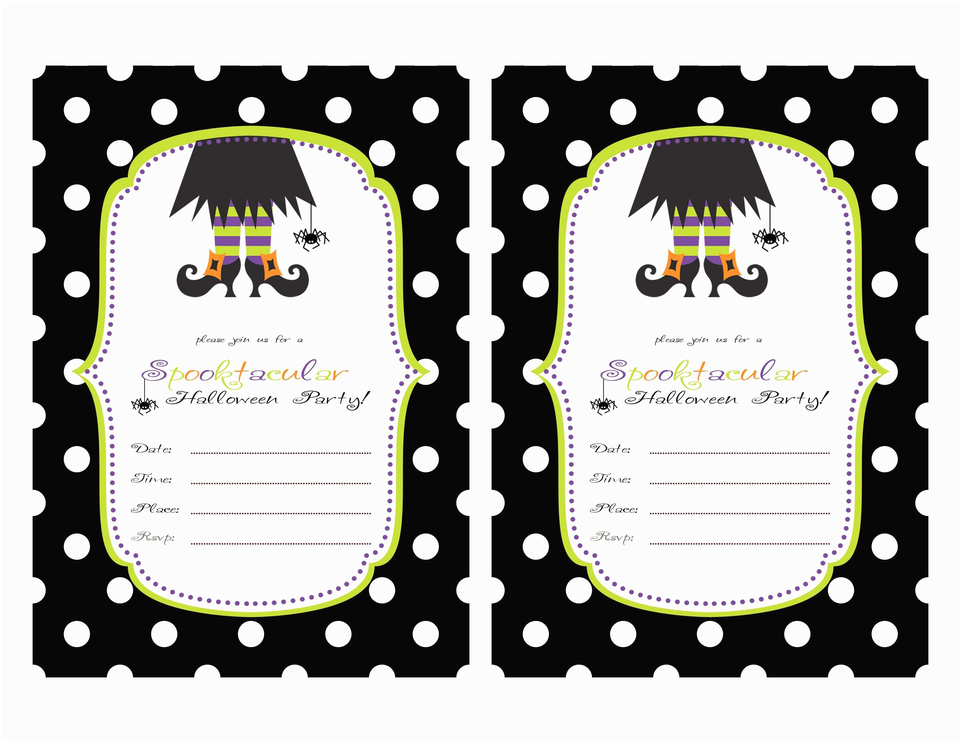 Free Halloween Party Invitations Birthday Invitation Card Free Printable Birthday