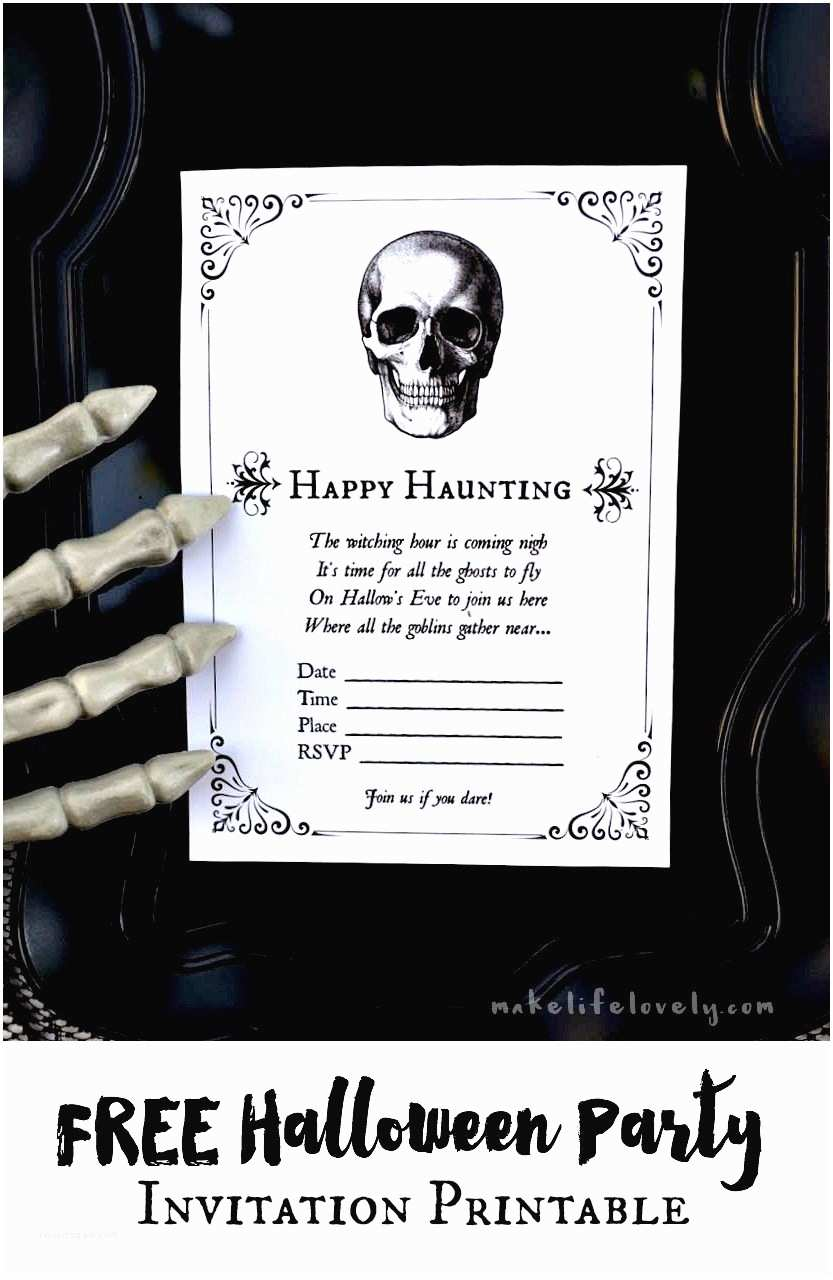 Free Halloween Party Invitations Free Halloween Party Invitation Printables Make Life Lovely