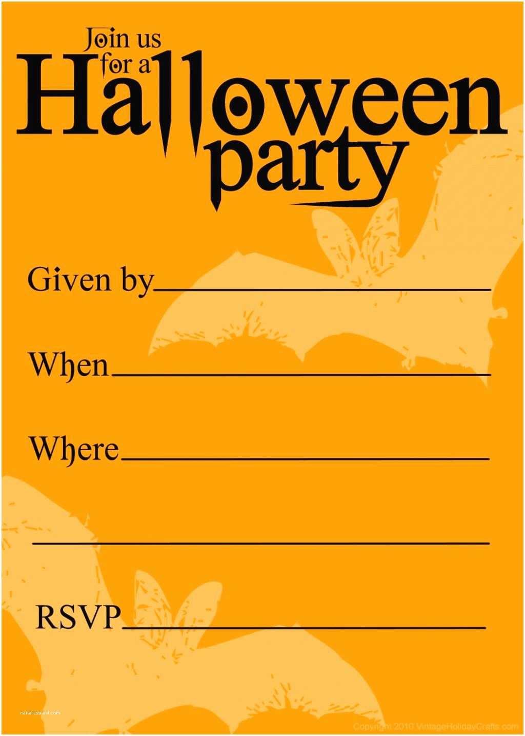 Free Halloween Party Invitations Free Printable Halloween Birthday Invitations Templates