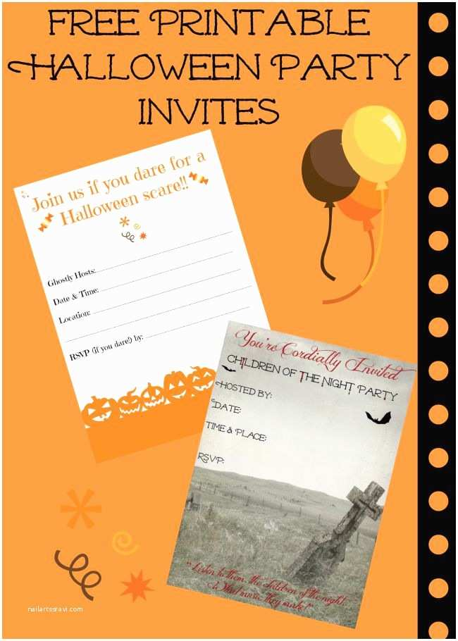 Free Halloween Party Invitations Free Printable Halloween Invitations for Your Super