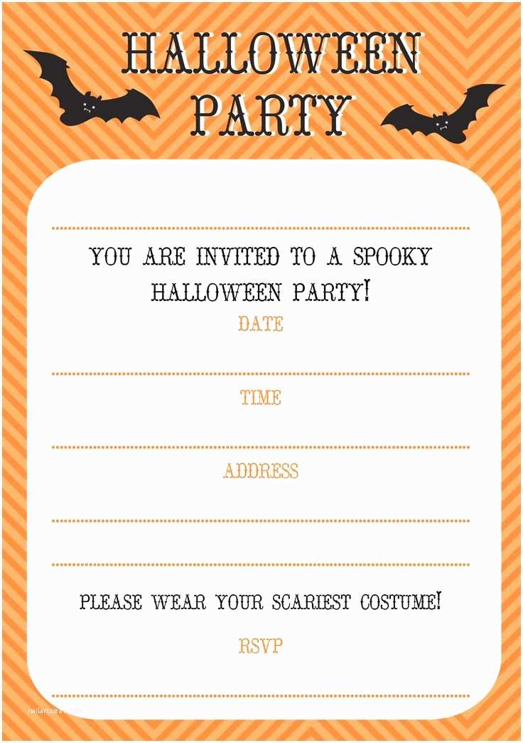 Free Halloween Party Invitations Free Printable Halloween Invitations