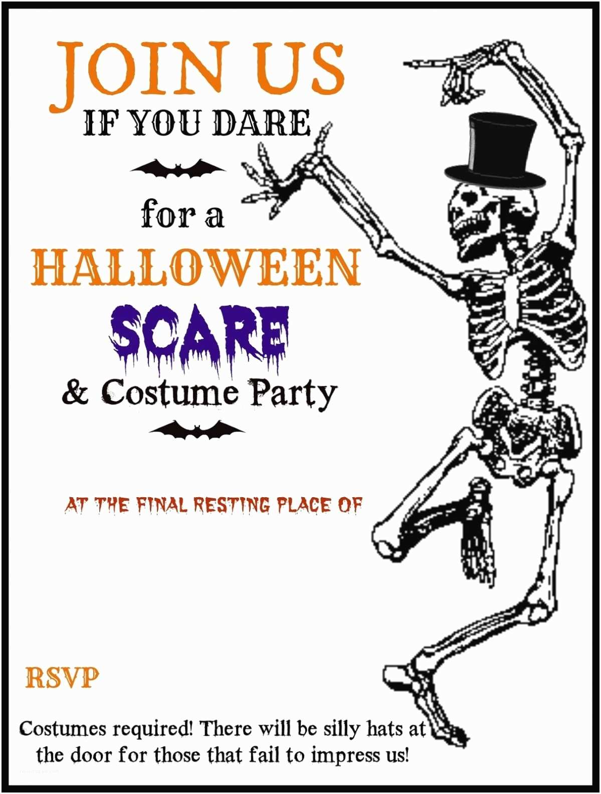 Free Halloween Party Invitations Free Printable Halloween Party Invitations Template