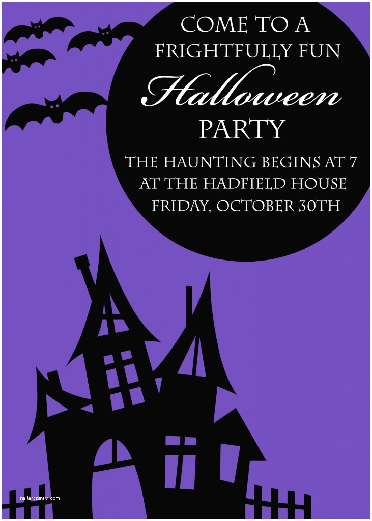 Free Halloween Party Invitations Free Printable Halloween Party Invitations Yellow Bliss Road