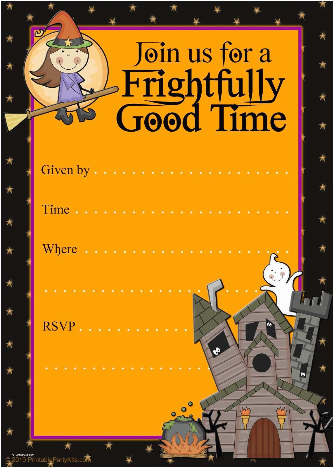 Free Halloween Party Invitations Free Printable Party Invitations Printable Good Witch