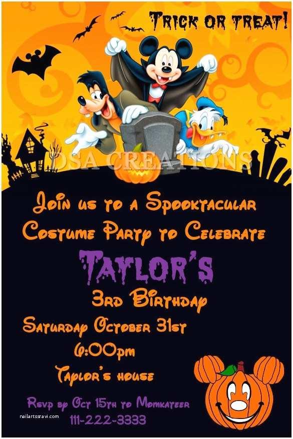Free Halloween Party Invitations Halloween Birthday Party Invitations