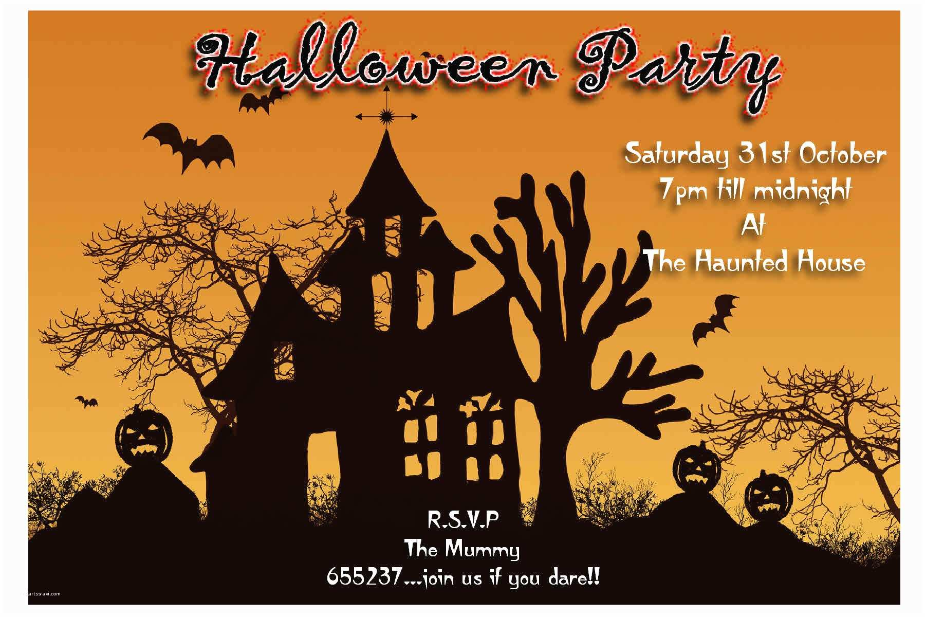 Free Halloween Party Invitations Halloween Invitations Kit