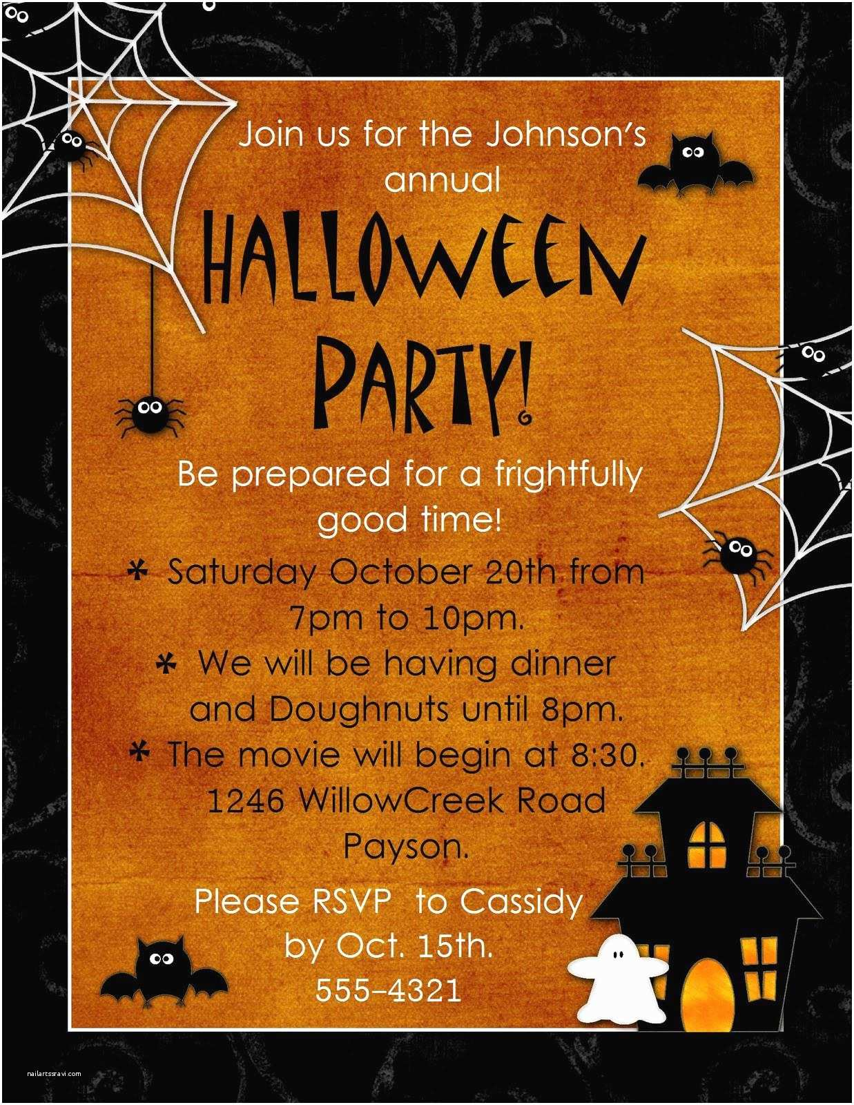 Free Halloween Party Invitations Halloween Party Invitation Wording