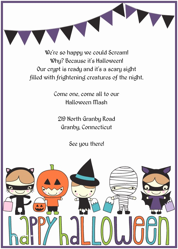 Free Halloween Party Invitations Trick or Treat Halloween Party Invitation