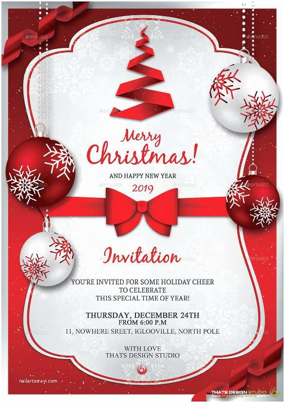 Free Holiday Party Invitation Templates Christmas Invitation Template – 26 Free Psd Eps Vector