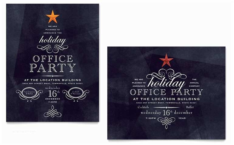 Free Holiday Party Invitation Templates Fice Holiday Party Poster Template Word & Publisher