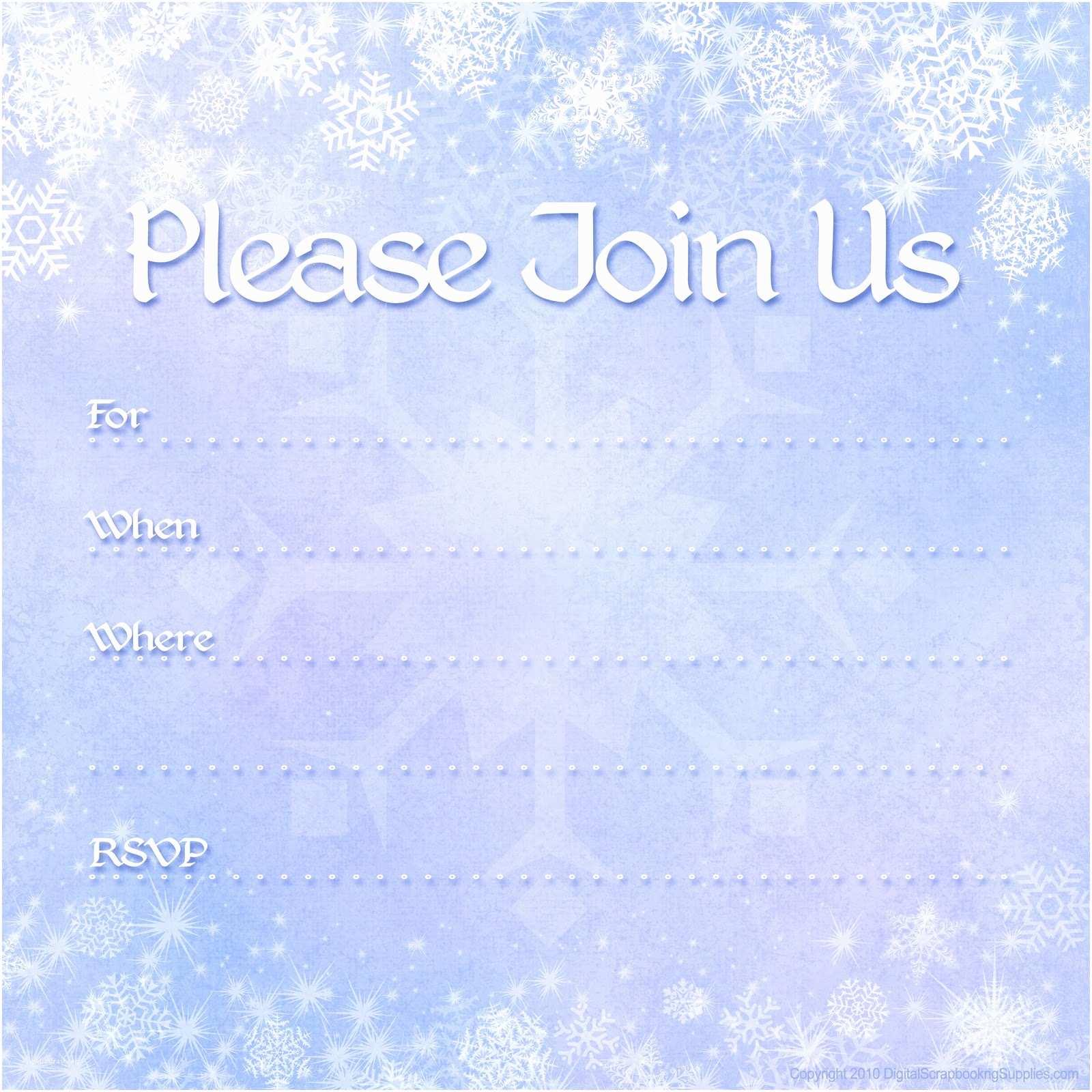 Free Holiday Party Invitation Templates Free Printable Party Invitations Free Winter Holiday