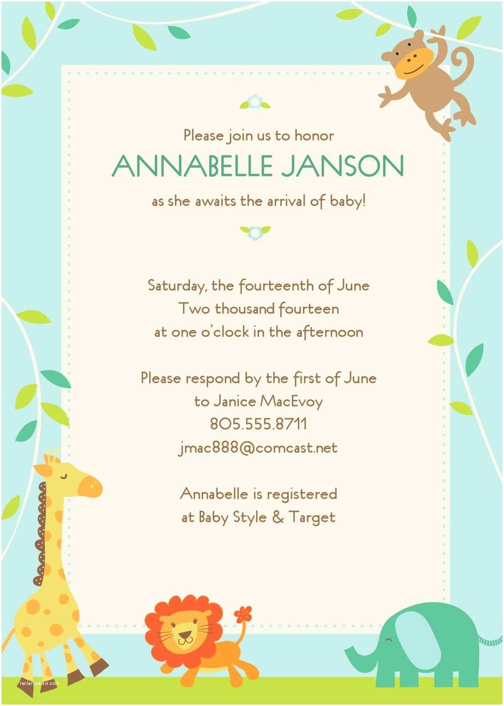Free Online Baby Shower Invitations Free Line Baby Shower Invitation Templates