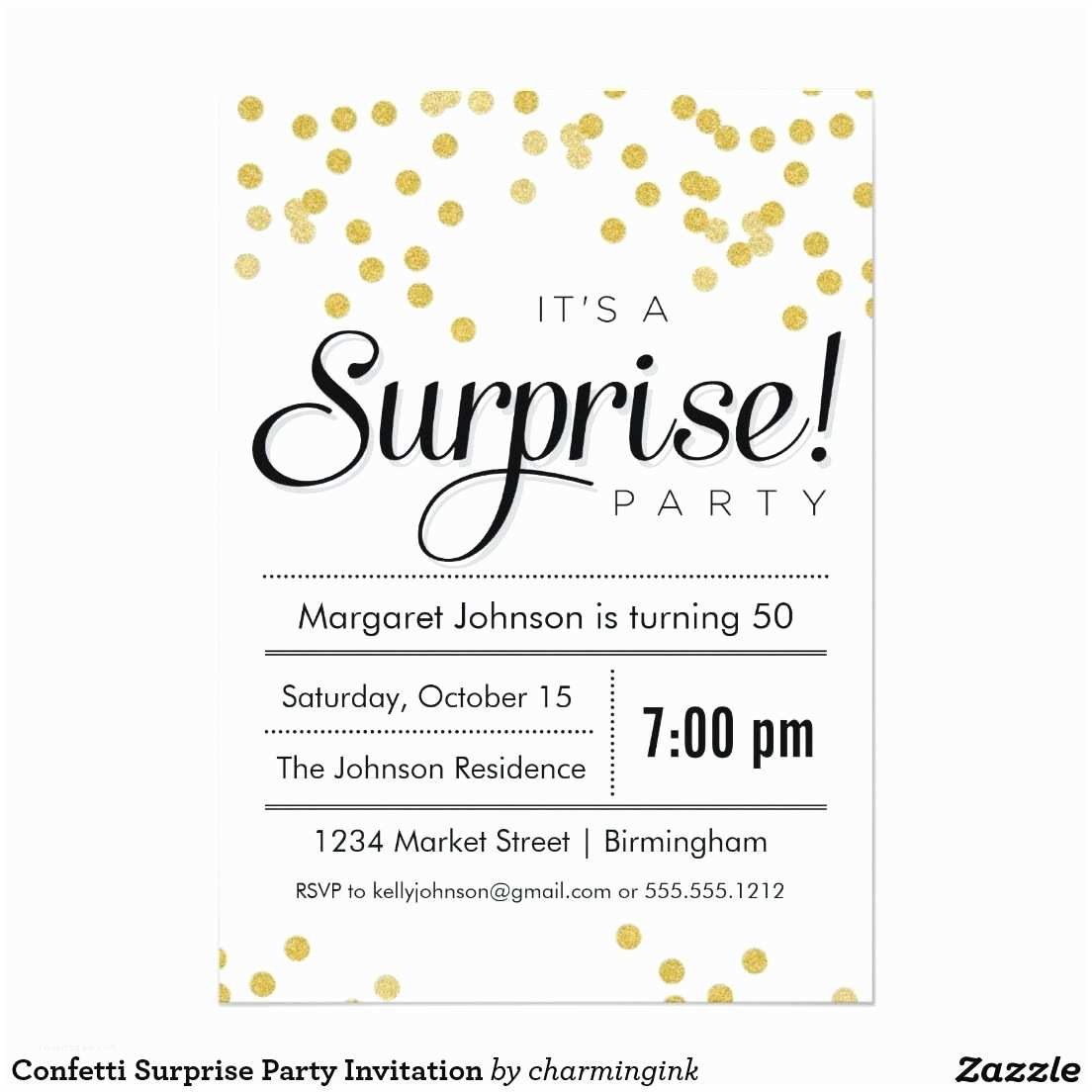 Free Online Party Invitations Surprise Birthday Templates