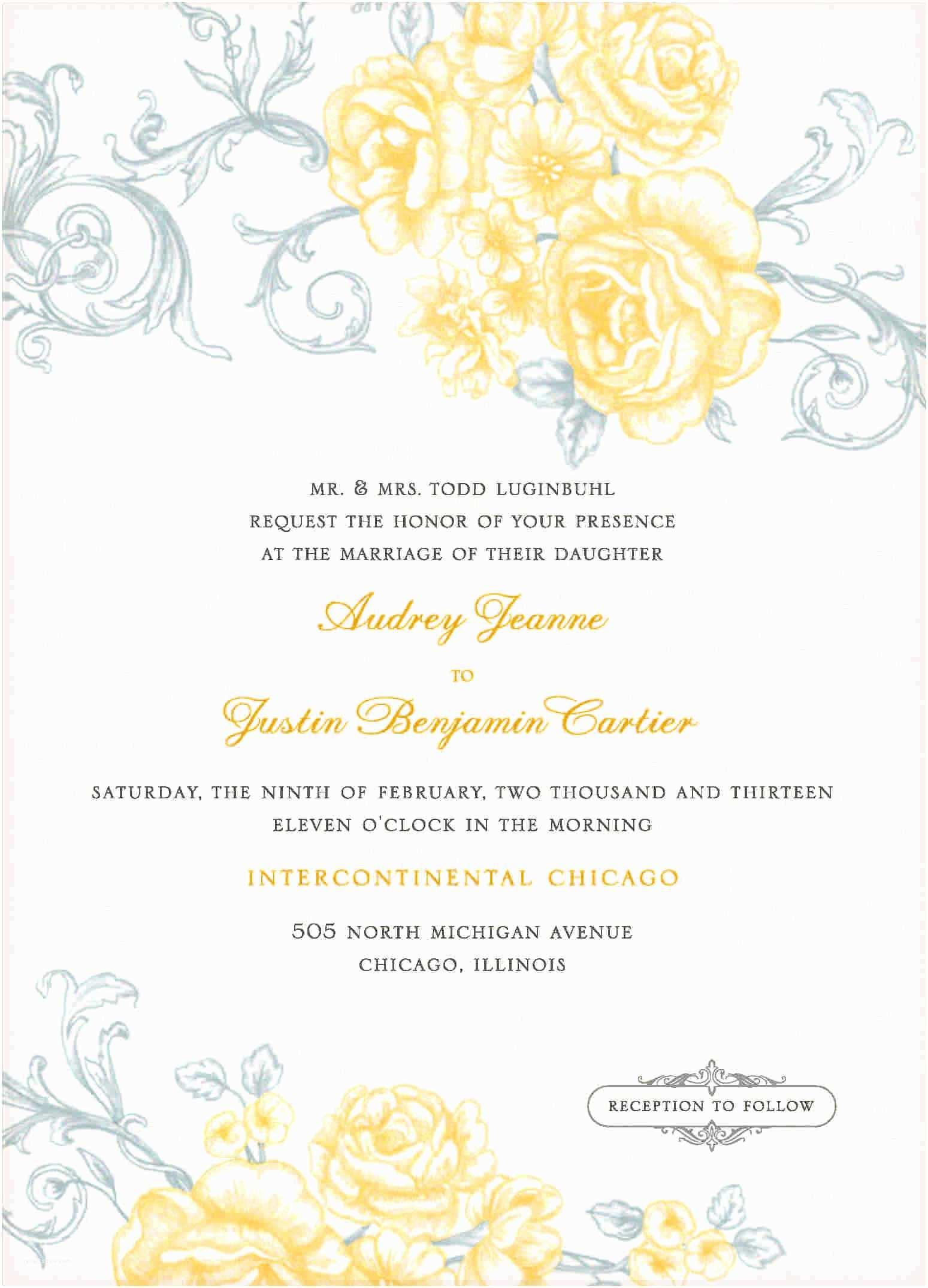 Free Online Wedding Invitation Templates 9 Free Wedding Invitation Template