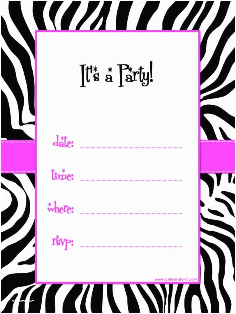 Free Party Invitation Template Birthday Invitations Free Printable Template