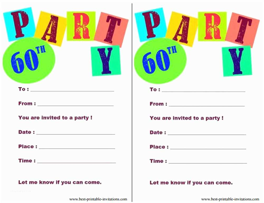 Free Party Invitation Template Birthday Party Invitations Free Printable Templates