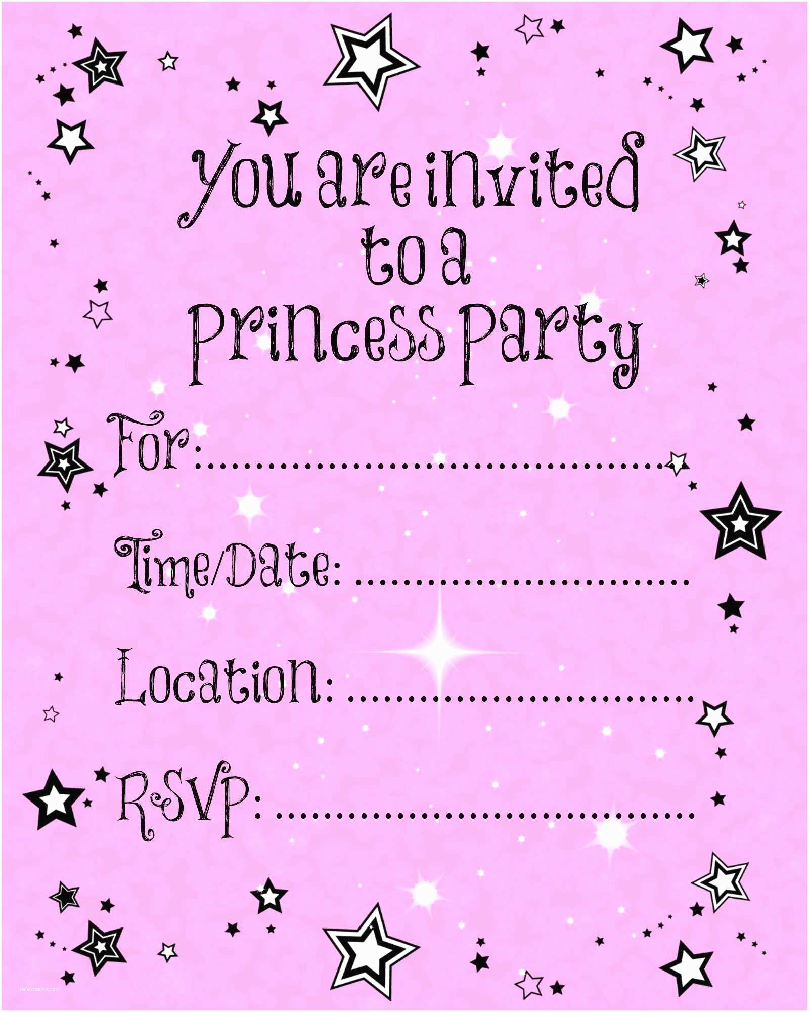 Free Party Invitation Template Free Printable Party Invitations Templates