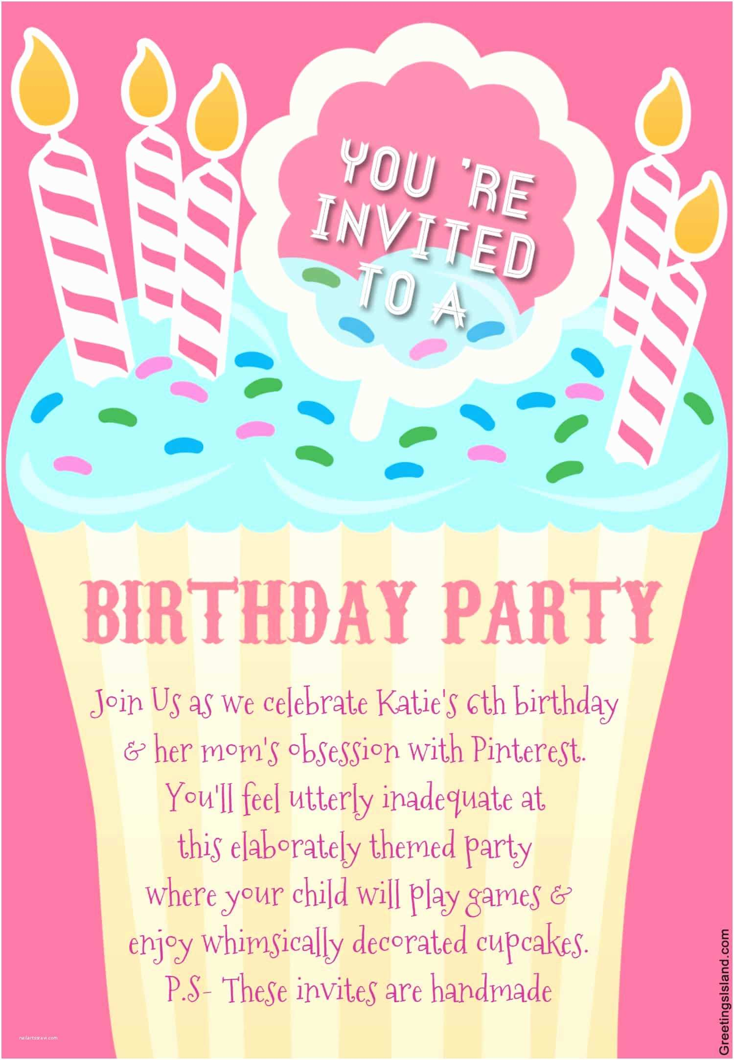 Free Party Invitation Template Honest Birthday Party Invitations