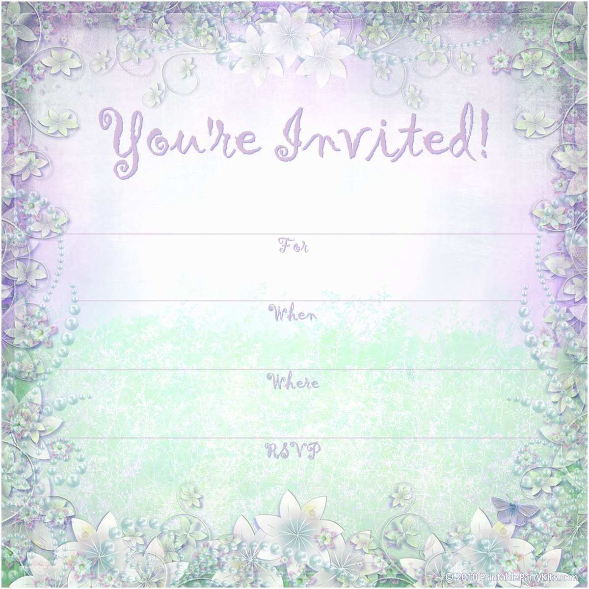 Free Party Invitation Template Party Invitation Template