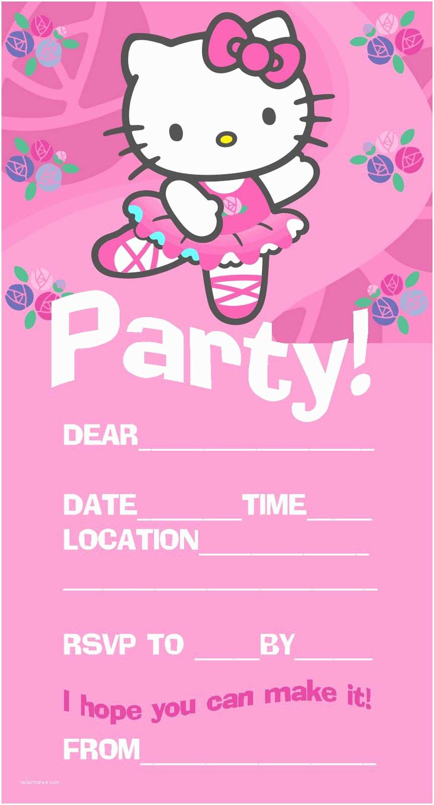 Free Party Invitation Templates Girl Birthday Party Invitation Template