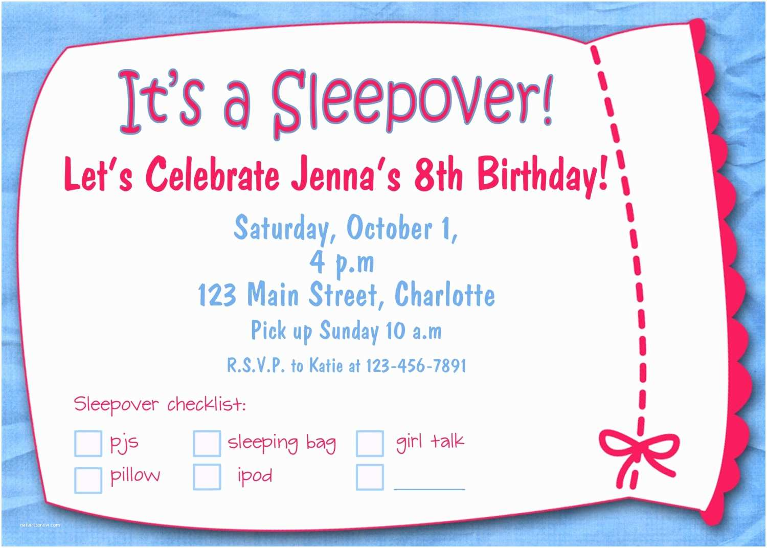 Free Party Invitation Templates Printable Birthday Invitations for Girls Template