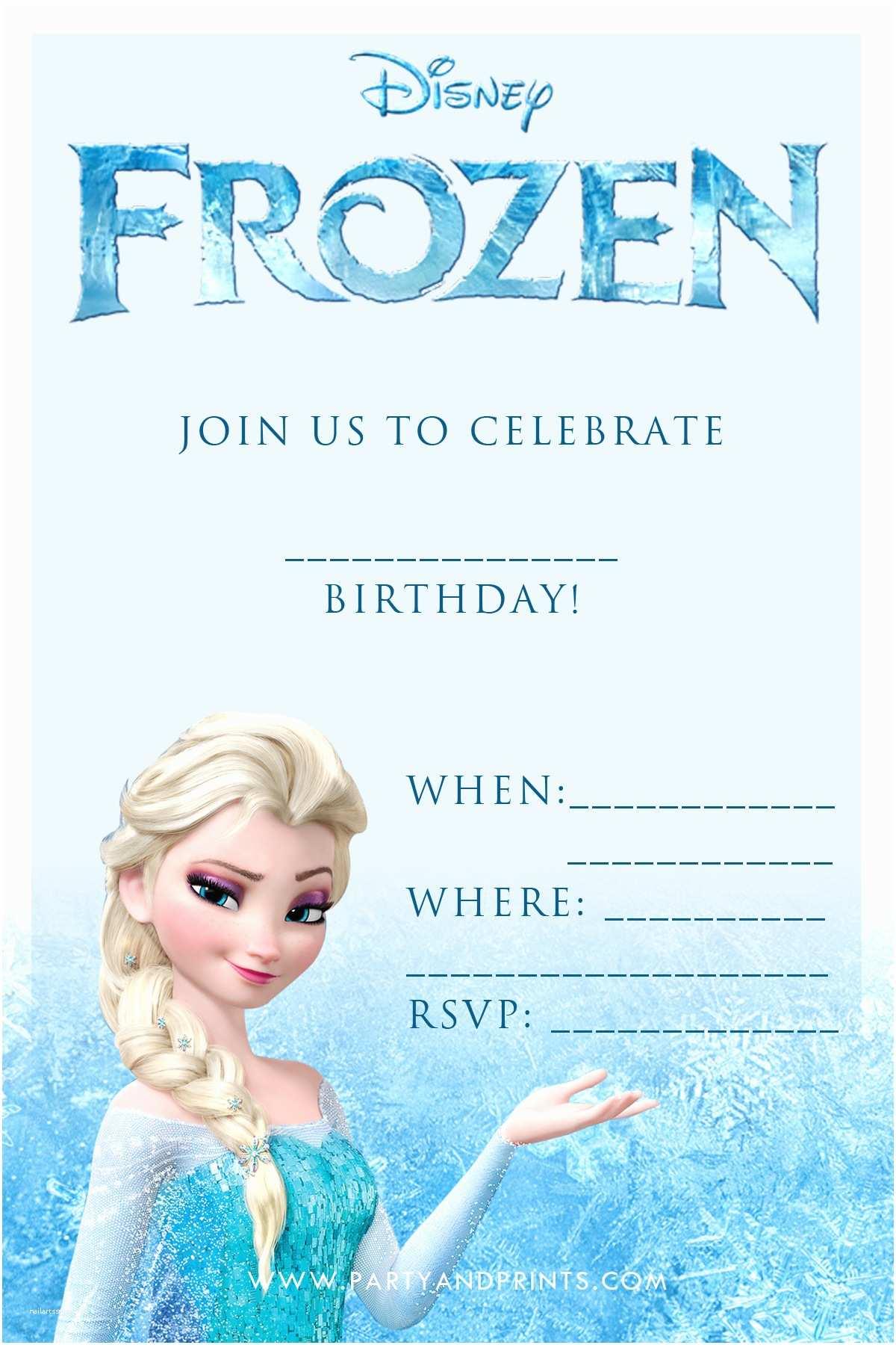 Free Party Invitations 20 Frozen Birthday Party Ideas