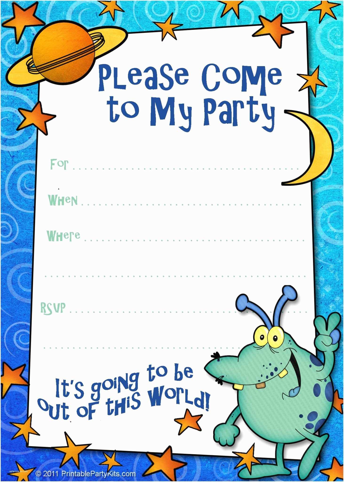 Free Party Invitations Boys