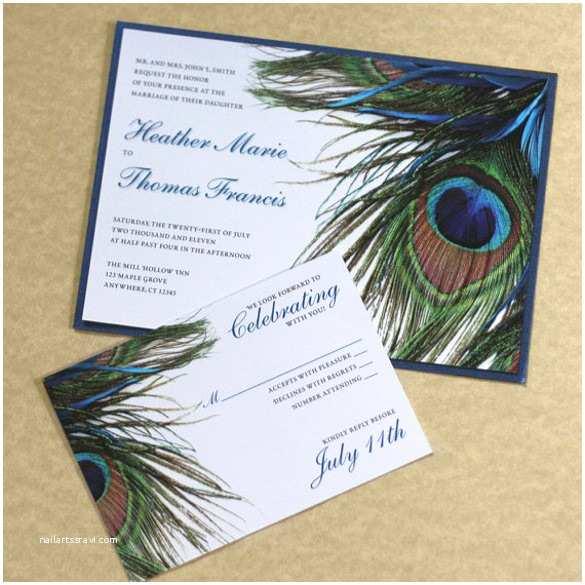 Free Peacock Wedding Invitation Templates Peacock Feather Invitation Template