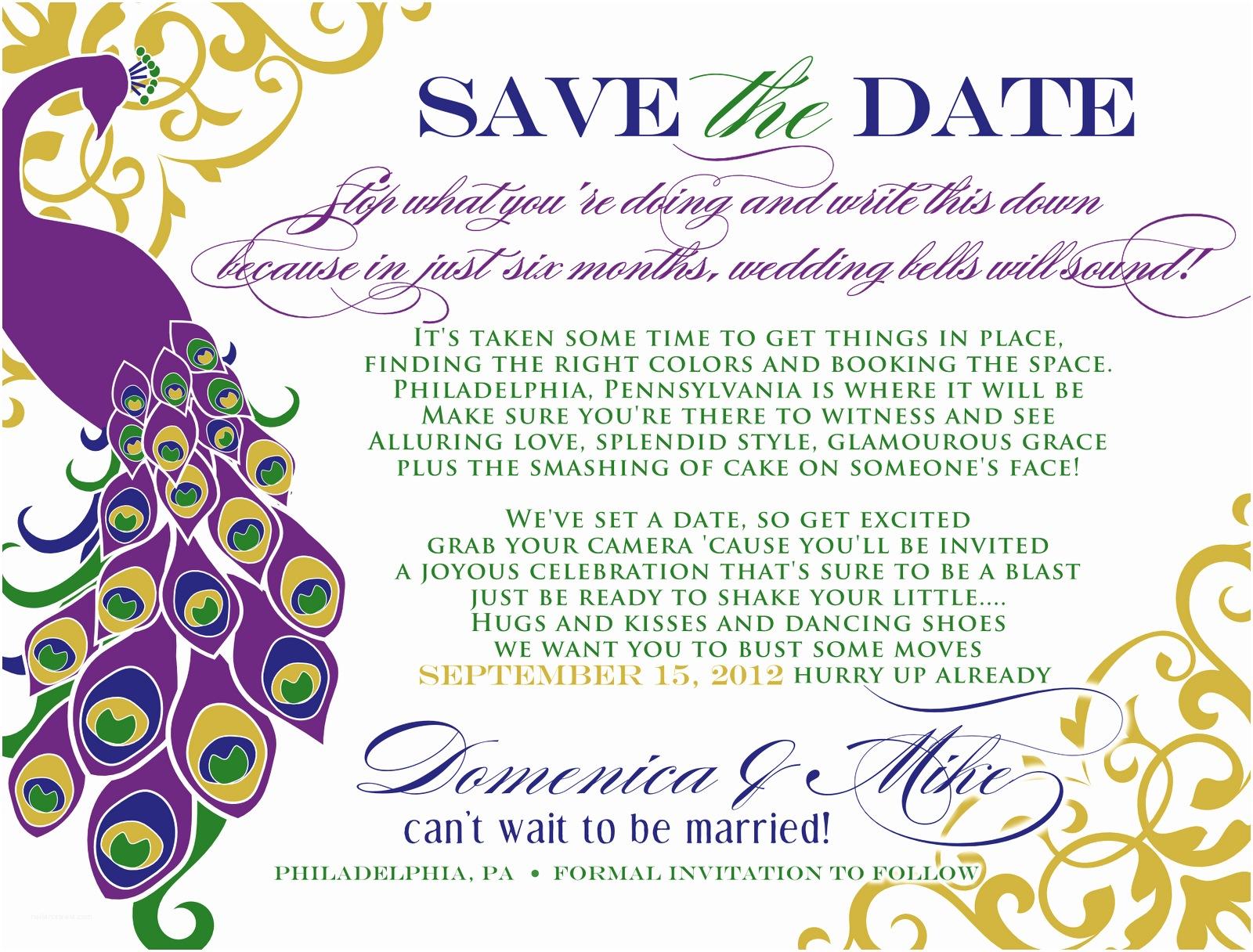 Free Peacock Wedding Invitation Templates Peacock Inspired Wedding Invitation