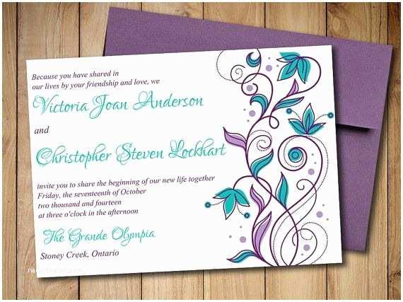 Free Peacock Wedding Invitation Templates Printable Wedding Invitation Template Download Peacock