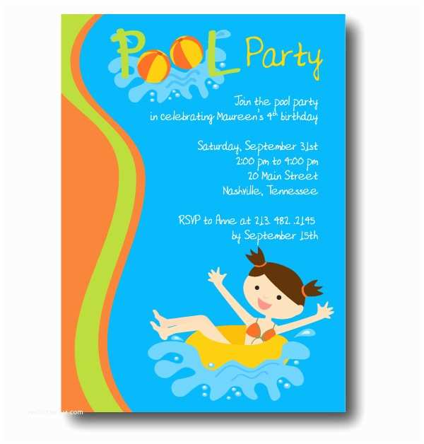 Free Pool Party Invitations Free Pool Party Invitation Template – Gangcraft