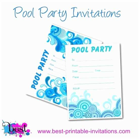 Free Pool Party Invitations Free Printable Adult Pool Party Invitation