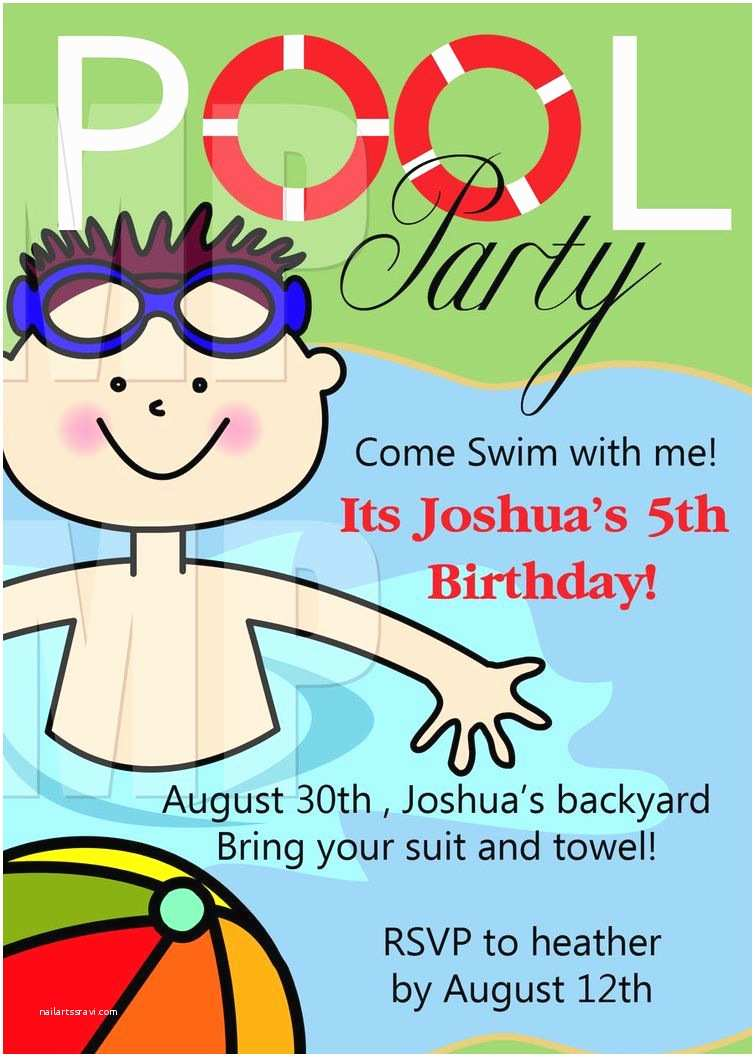 Free Pool Party Invitations Free Printable Birthday Pool Party Invitations Templates