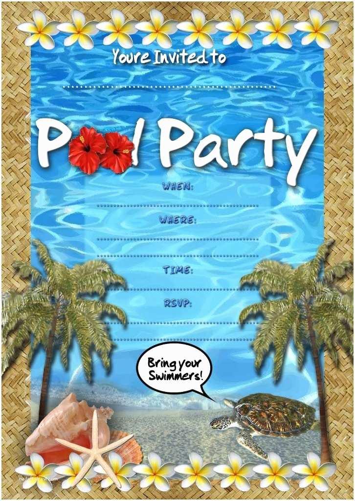 Free Pool Party Invitations Free Printable Pool Party Invitations