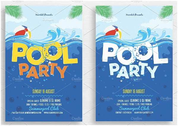 Free Pool Party Invitations Printable Pool Party Invitations – Gangcraft