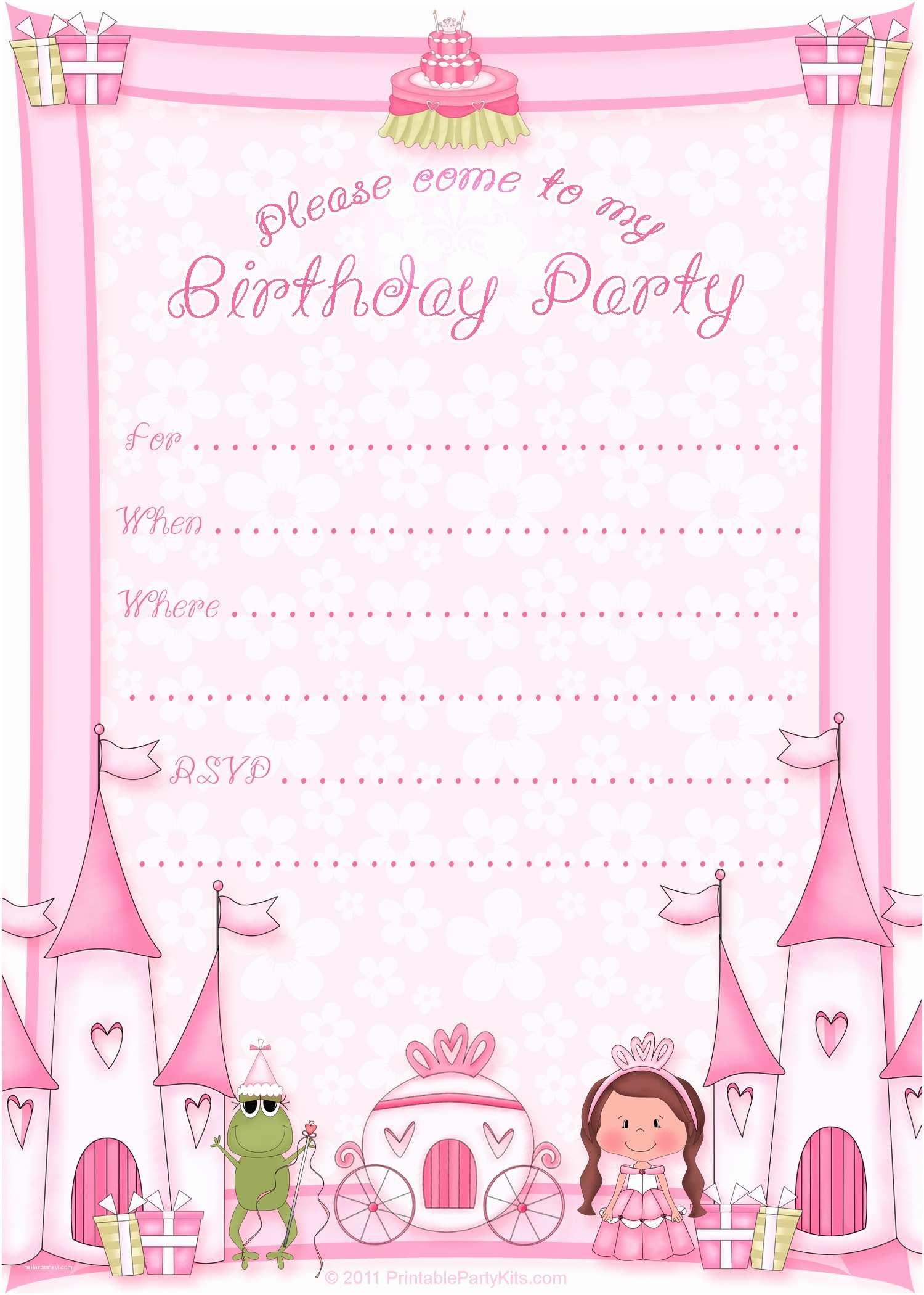 Free Printable Birthday Invitation Templates 50 Free Birthday Invitation Templates – You Will Love