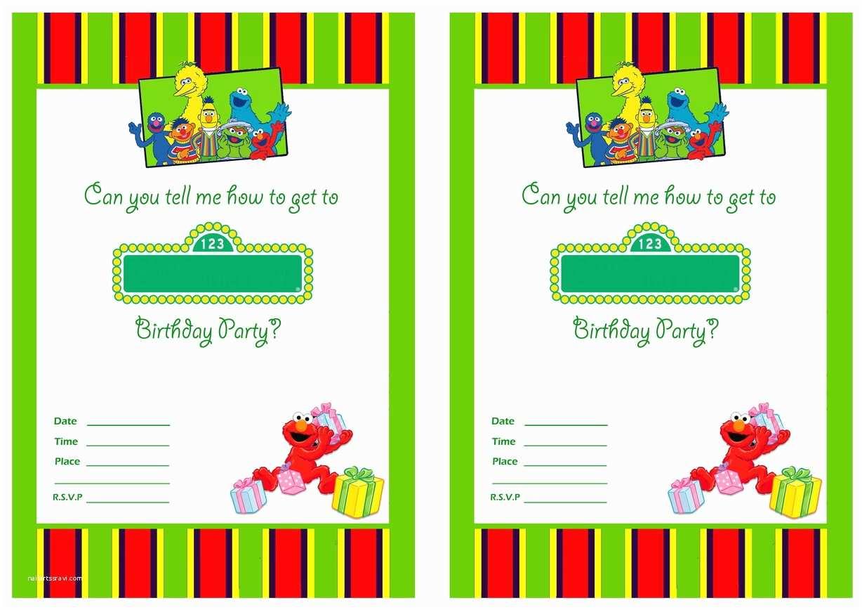 Free Printable Birthday Invitation Templates Free Printable Sesame Street 1st Birthday Invitations