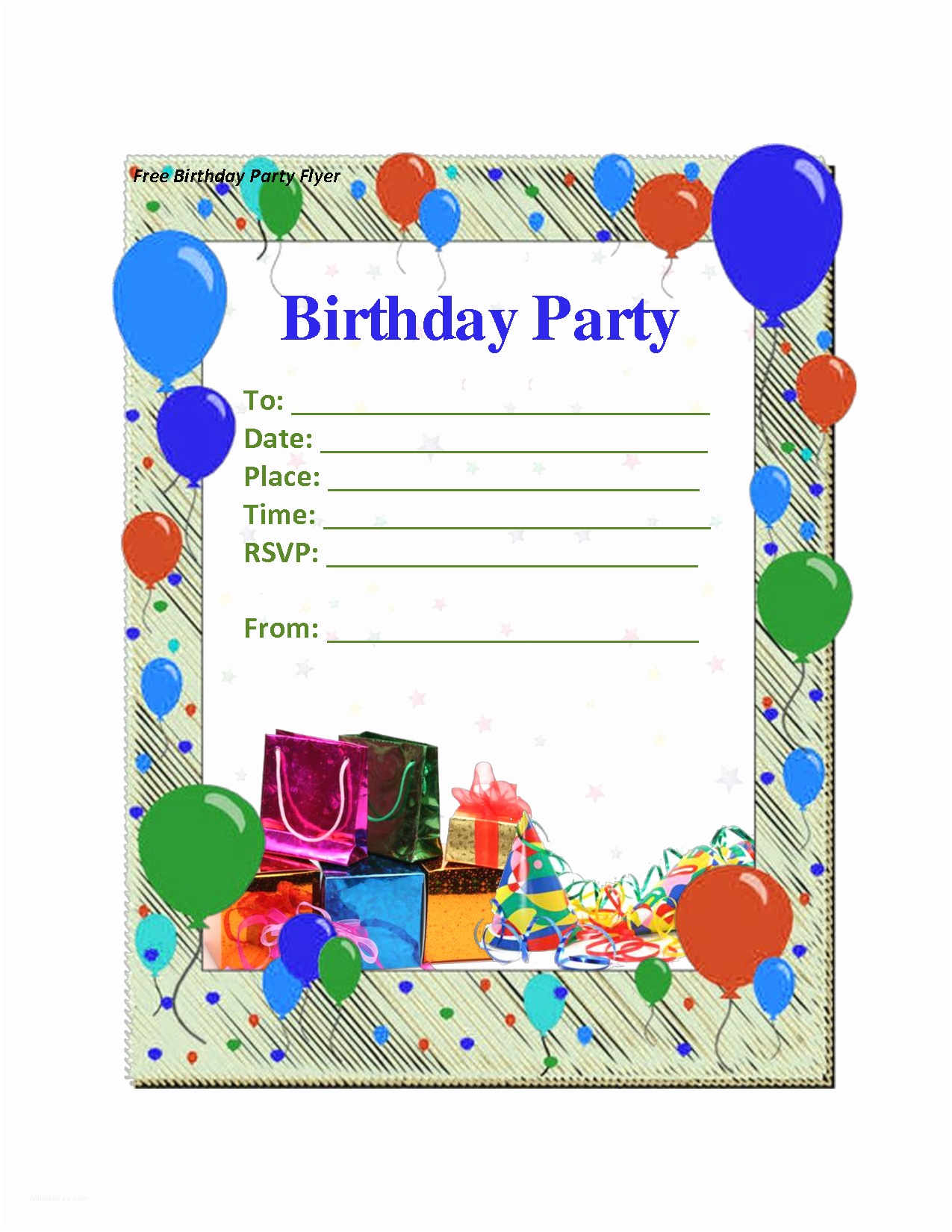 Free Printable Birthday Party Invitations Birthday Invitation Template