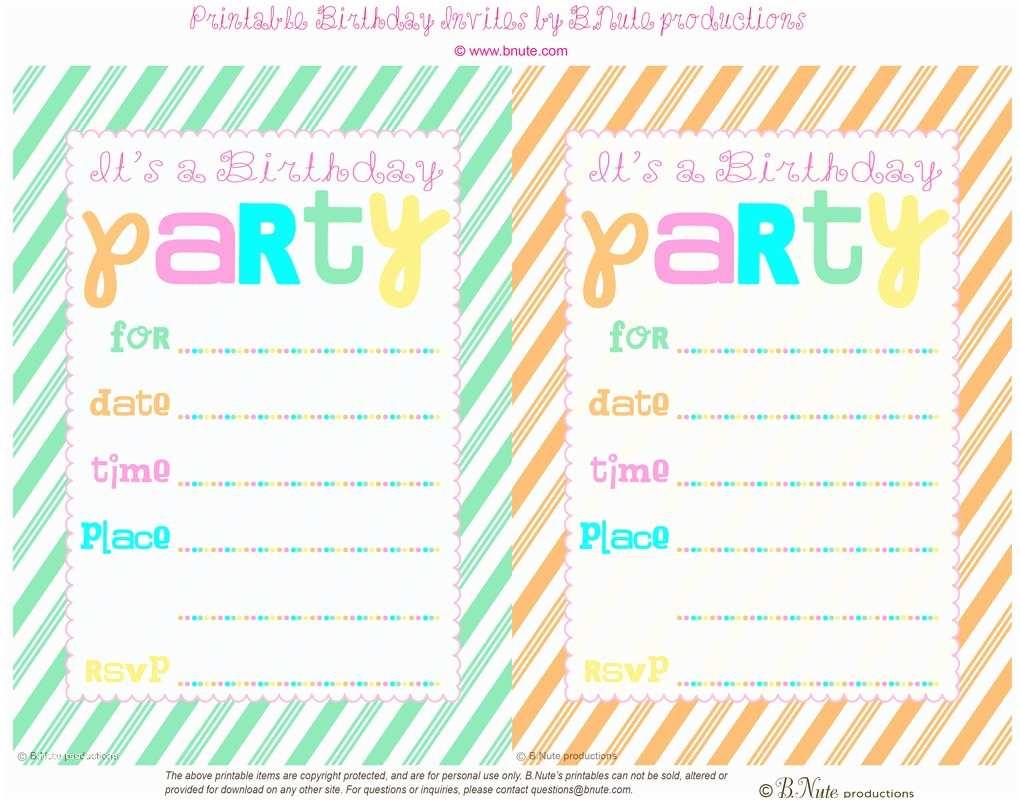 Free Printable Birthday Party Invitations Blank Free Printable Birthday Invitations for Boys
