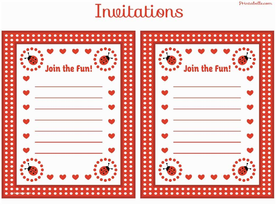 Free Printable Birthday Party Invitations Free Ladybug Party Printables From Printabelle