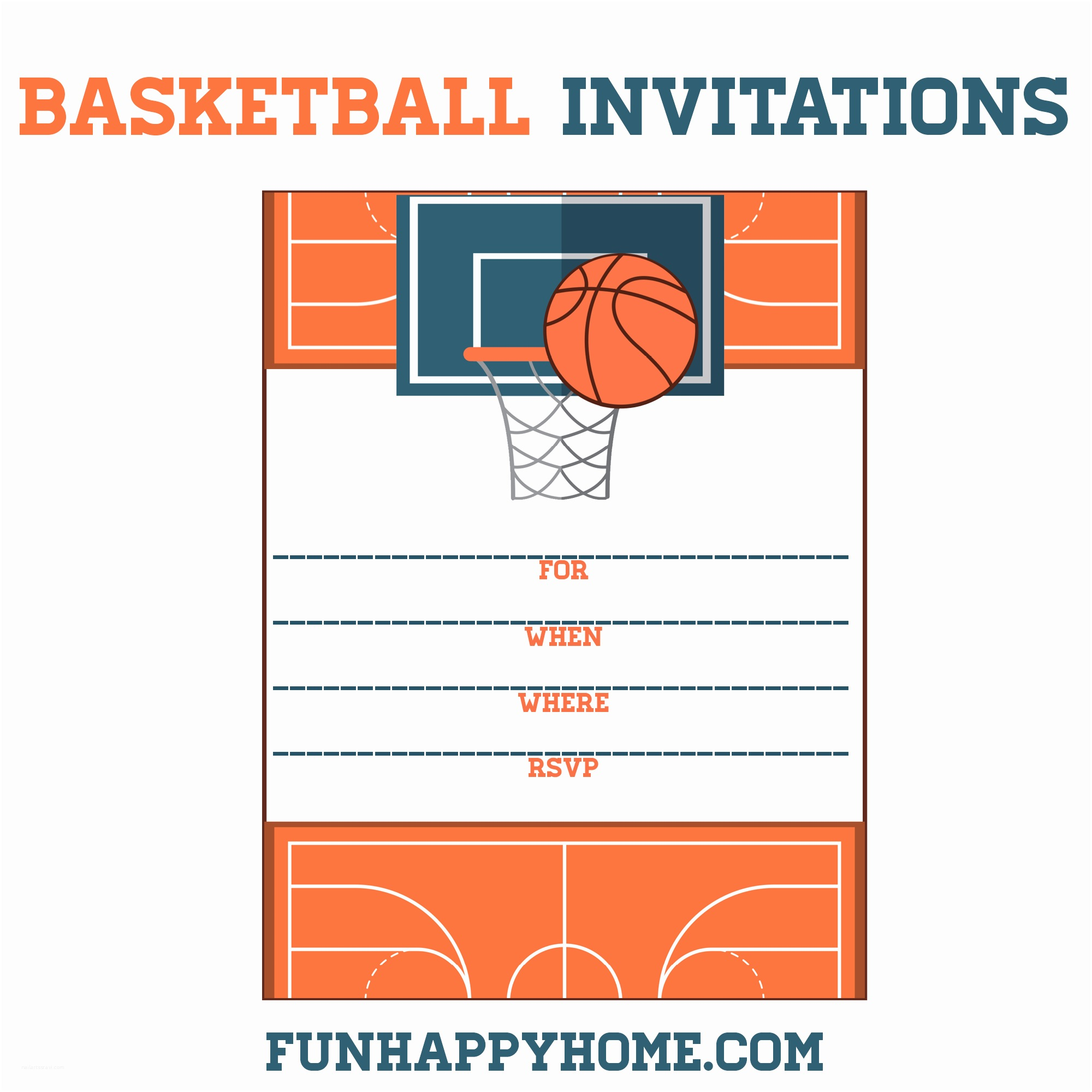 Free Printable Birthday Party Invitations Free Printable Basketball themed Party Invitations Fun