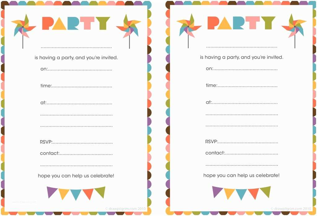 Free Printable Birthday Party Invitations Free Printable Birthday Invitations for Kids Free