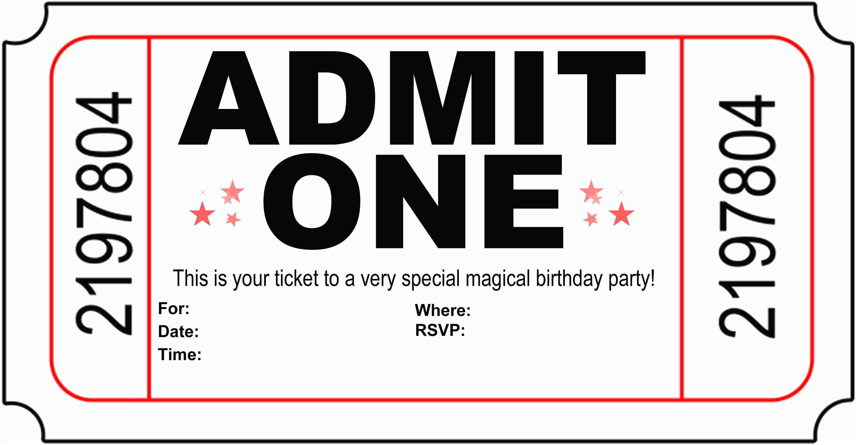 Free Printable Birthday Party Invitations Free Printable Birthday Invitations